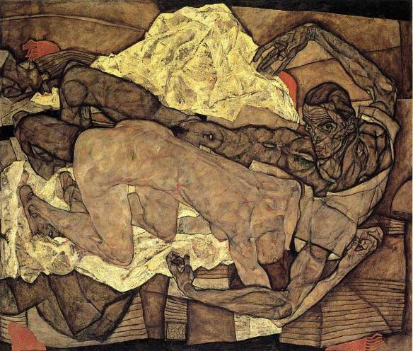 Lovers-Man-and-Woman-1-Egon-Schiele-1914
