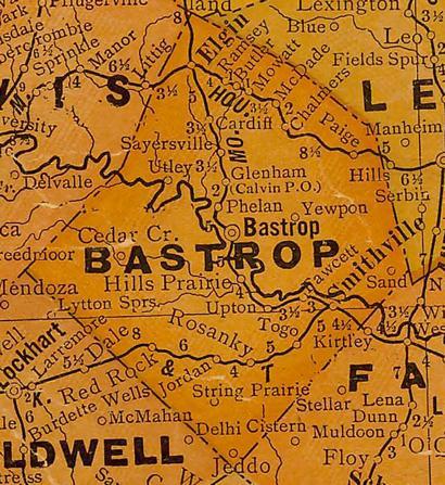 BastropCountyTX1920sMap